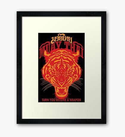 tiger muay thai thailand martial art 2 Framed Print