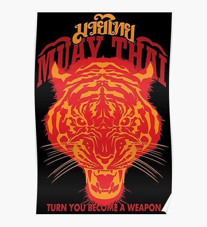 tiger muay thai thailand martial art 2 Poster