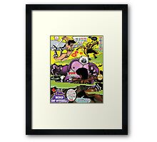 Space Chick & Nympho: Vampire Warrior Party Girl Comix #2 - Comic Book Cover  Framed Print