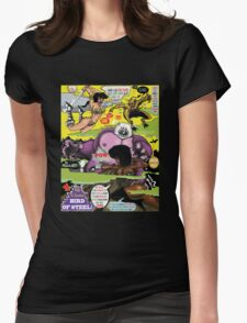 Space Chick & Nympho: Vampire Warrior Party Girl Comix #2 - Comic Book Cover  Womens Fitted T-Shirt