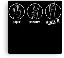 Paper Scissors Rock Canvas Print