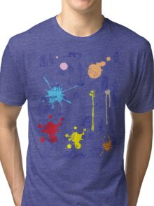 History of Art (blue artlines, w/ paint splashes) Tri-blend T-Shirt