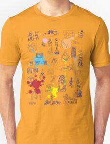 History of Art (blue artlines, w/ paint splashes) Unisex T-Shirt
