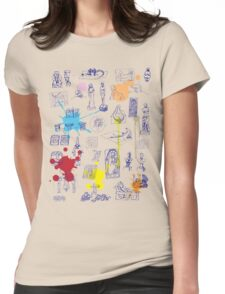 History of Art (blue artlines, w/ paint splashes) Womens Fitted T-Shirt