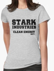Stark Industries Clean Energy Dept. Womens Fitted T-Shirt
