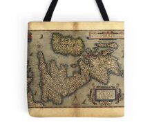 Antique Map of Britain, by Abraham Ortelius, circa 1570 Tote Bag