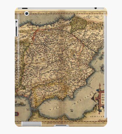 Antique Map of Spain, by Abraham Ortelius, circa 1570 iPad Case/Skin