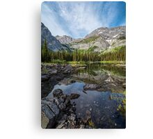 Mountain Lake Alberta Canada Canvas Print