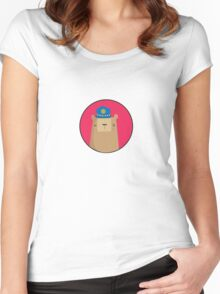 Police Bear  Women's Fitted Scoop T-Shirt