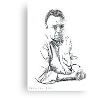 Hitchens drawn with spots Canvas Print