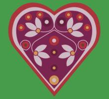 Folk heart 3 centre Kids Tee