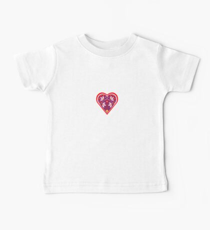 Folk heart 3 centre Baby Tee