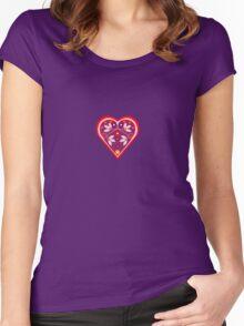 Folk heart 3 centre Women's Fitted Scoop T-Shirt
