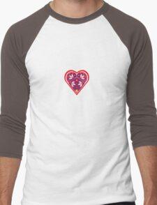 Folk heart 3 centre Men's Baseball ¾ T-Shirt