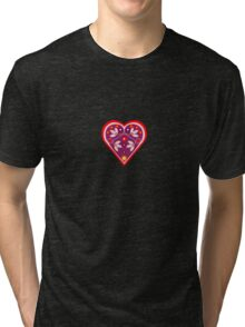Folk heart 3 centre Tri-blend T-Shirt