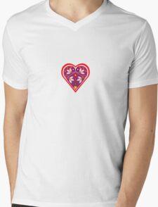Folk heart 3 centre Mens V-Neck T-Shirt