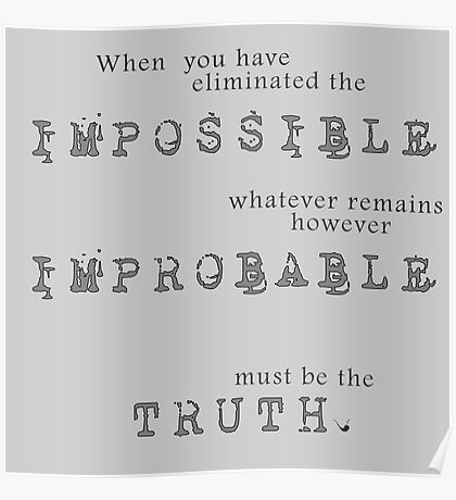 Sherlock Holmes - Impossible Improbable Truth Poster