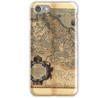 Antique Map of Portugal, by Abraham Ortelius, circa 1570 iPhone Case/Skin