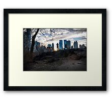 Working Out the Shot Framed Print