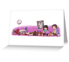 Mighty Boosh kids playing Greeting Card
