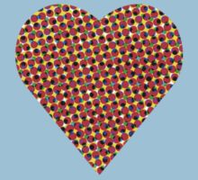 halftone heart Kids Clothes