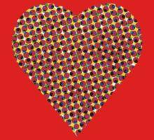 halftone heart One Piece - Long Sleeve