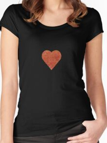 halftone heart Women's Fitted Scoop T-Shirt