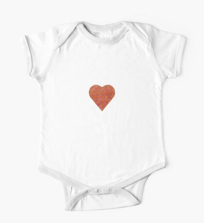 halftone heart One Piece - Short Sleeve