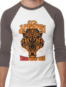 tiger muay thai thailand martial art 3 Men's Baseball ¾ T-Shirt