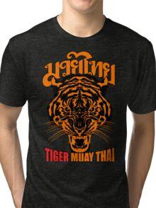 tiger muay thai thailand martial art 3 Tri-blend T-Shirt
