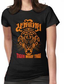 tiger muay thai thailand martial art 3 Womens Fitted T-Shirt