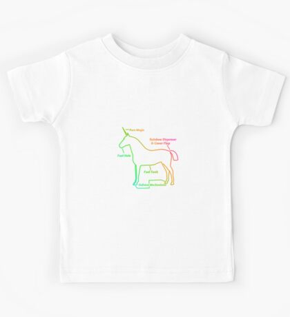 Anatomy of A Unicorn (More Products!) Kids Tee