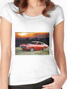 1971 Ford Maverick 'Street Smart' Women's Fitted Scoop T-Shirt