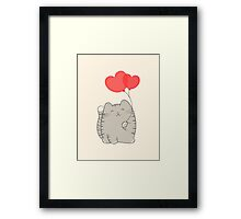 eli, the love cat Framed Print