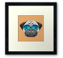 Pug Dog with sunglasses Framed Print