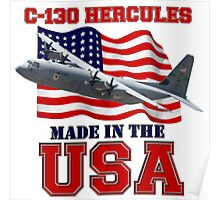 C-130 Hercules Made in the USA Poster