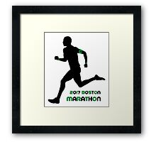 2017 Boston Marathon Framed Print