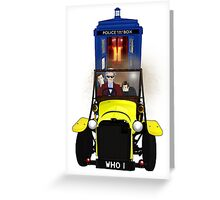 Time Lord Road Trip! Greeting Card