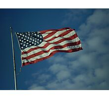 The Flag Waves Photographic Print