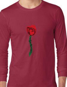 Heart Rose Long Sleeve T-Shirt