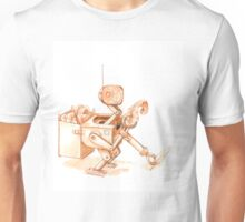 Robots Have Hobbies, colored drawing Unisex T-Shirt