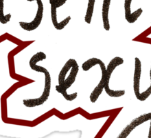 Consent is Sexy Handwriting Sticker