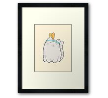 fin, the cat Framed Print