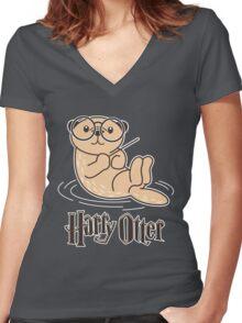 Harry otter Women's Fitted V-Neck T-Shirt