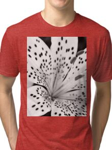 Lily In Black And White Tri-blend T-Shirt