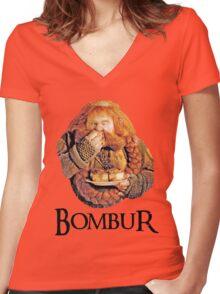 Bombur Portrait Women's Fitted V-Neck T-Shirt