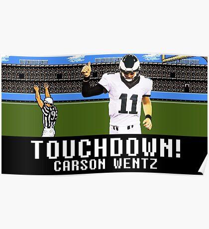Tecmo Bowl Carson Wentz Poster