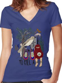 To Kill a Mockingbird (colour) Women's Fitted V-Neck T-Shirt