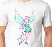 Tinkerbell Colorful (Messy) Unisex T-Shirt