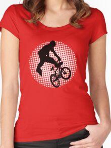 bmx t-shirt Women's Fitted Scoop T-Shirt